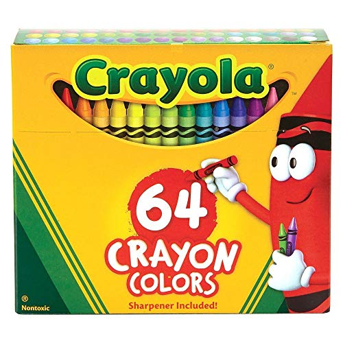 Classic Color Pack Crayons, Assorted 64/Box, Total 6 Boxes -