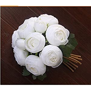 Jili Online Artificial Silk Camellia Flower Bridal Wedding Party Handtied Bouquet Real Touch Foral 3