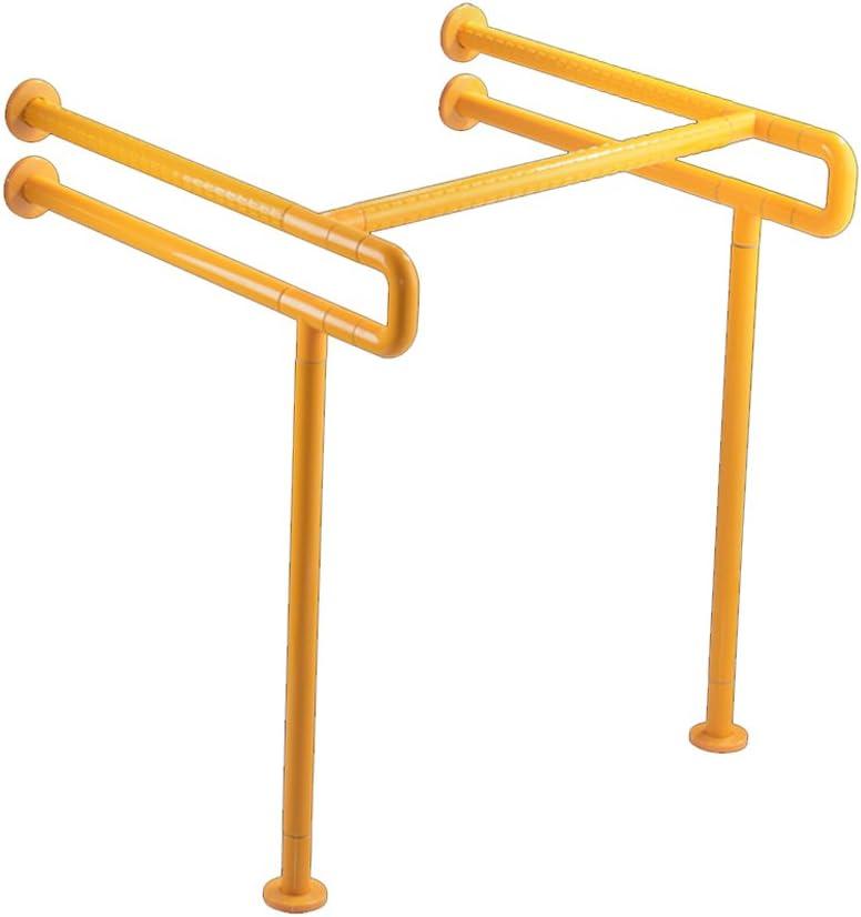 GWM Baño Lavabo Barandilla de Seguridad Tocador Inodoro Bañera de Tina para Personas Mayores con discapacidades Nylon Accesibilidad Barrera de Seguridad (Color : Amarillo)