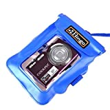 NEEWER Blue Underwater Waterproof Pouch Dry Bag Beach Case for Digital Cameras