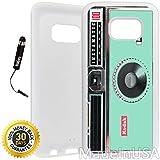 Custom Galaxy S7 Case (Kodak Instamatic Mint) Edge-to-Edge Rubber White Cover Ultra Slim   Lightweight   Includes Stylus Pen by Innosub