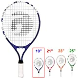 Gamma Sports Junior Tennis Racquet: Quick Kids 25 Inch Tennis Racket - Prestrung Youth Tennis Racquets for Boys and Girls
