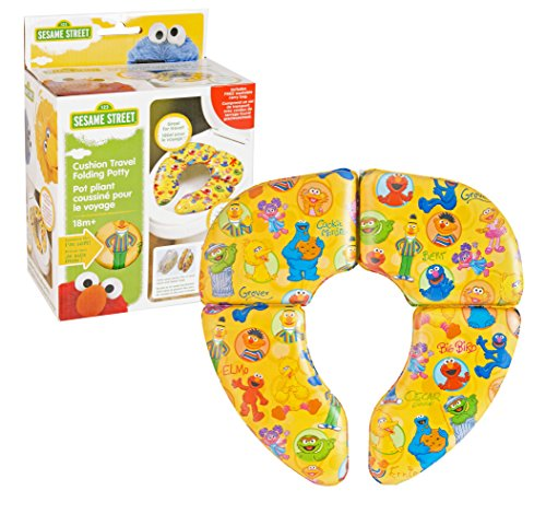 Sesame Street Framed Friends Cushioned Folding Travel Potty Seat