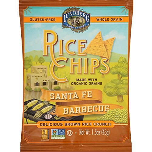 Lundberg Family Farms Rice Chips, Santa Fe Barbeque, 1.5 Ounce (Pack of (Santa Fe Bbq)