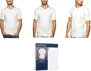 Buffalo David Bitton T-Shirt Cotton Soft Stretch V-Neck Tag-Less Classic