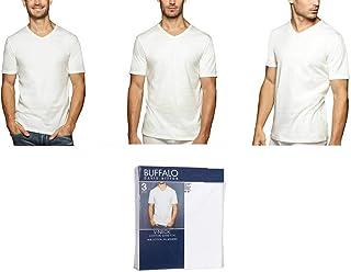 Buffalo David Bitton T-Shirt Cotton Soft Stretch V-Neck Tag-Less Classic
