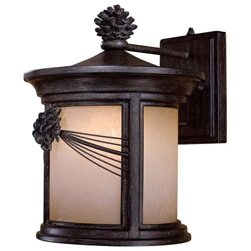 The Great Outdoors 9153-357-PL 1 Light Wall Mount 1-26W Iron Oxide Abbey Lane - 357 Pl Wall