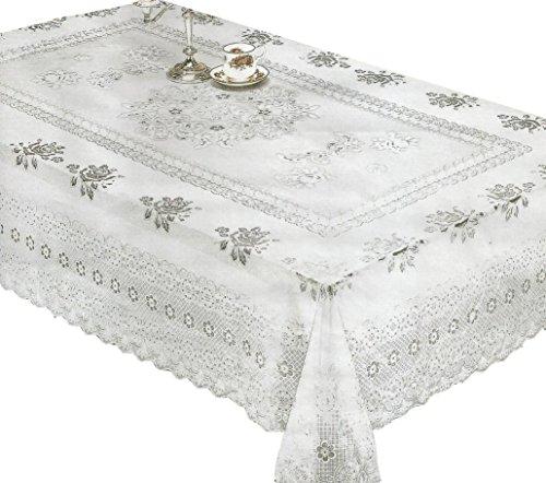 RJ Quality Product 856b-60x90 Lace vinyl tablecloth, 60 x 90
