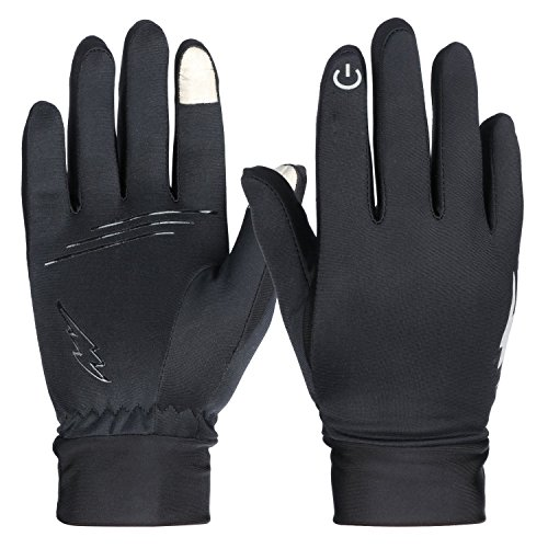 (Winter Gloves, RilexAwhile Touch Screen Gloves Thermal Gloves Outdoor Cycling Gloves for Men and Women (Black02, M))