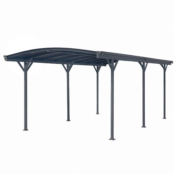 ITALFROM Carport Marquesina para Coche (policarbonato y Aluminio - 576 X 300 cm de Exterior o de jardín: Amazon.es: Hogar