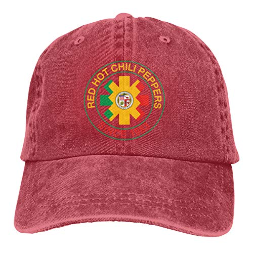 Red Hot Chili Peppers of Los Angeles Since 1983 Unisex Adult Adjustable Cotton Denim Baseball Cap One Size