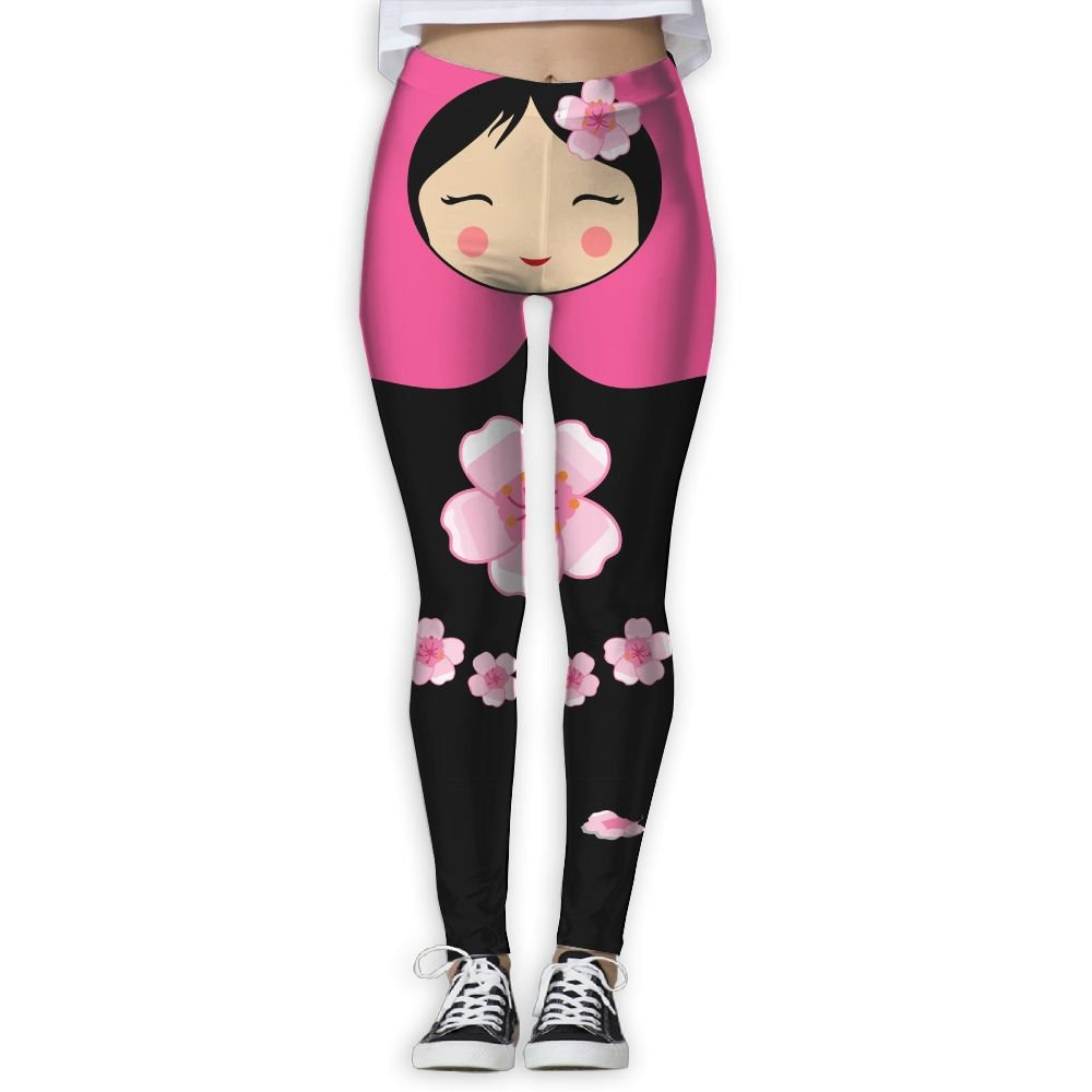 Russian Doll Sakura Women's Stretchable Sports Running Yoga Workout Leggings Pants