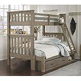 Amazon Com Ne Kids Highlands Harper Full Over Full Bunk Bed In