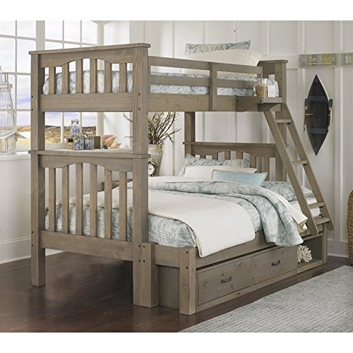 NE Kids Highlands Harper Twin over Full Storage Bunk Bed in