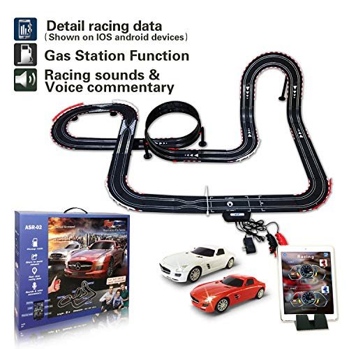 AGM Slot car Set with Racing Assistant APP No.ASR-02 1:43 Scale