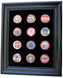 Black Casino Chip Display Frame for 12 Casino Poker Chips (not included)