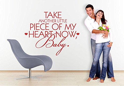 Rabbitsticker Wall Sticker Family Wall Quotes Vinyl Lettering Wall Art Decal DIY Take Another Little Piece of My Heart Now Baby Home Decor (Take Another Little Piece Of My Heart Baby)