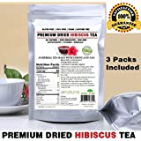 Hibiscus Tea 90 Tea Bags 100% Natural Premium Antioxidant Rich Tea Resealable Pouch