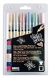 Uchida of America 222JGP-6A Uchida, Deco Just Premium Marker Fabric Pen Set, Assorted Glitter. 6 Pack