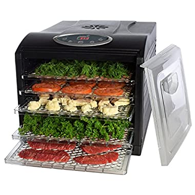 Electric Food Dehydrator, with 6 Drying Racks, Digital Temperature Controls and Timer with Automatic Shutoff, Even Dry From 95º F to 158º F