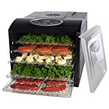 Electric Beef Jerky Countertop Food Dehydrator for a Healthy Diet, Extend Shelf Life, with 6 Drying Racks, Digital Temperature Controls and Timer with Automatic Shutoff, Even Dry From 95ºF to 158ºF