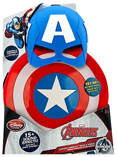 Disney Marvel Avengers Initiative Captain America Mask & Shield Roleplay Toy (Kids Captain America Costume With Shield)