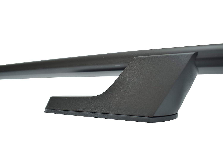 VY29786#1 Van Demon Matte Black Aluminium Roof Rails Bars for Renault Trafic LWB 01-14