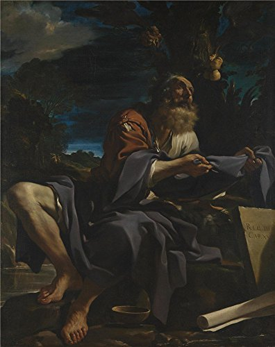 'Guercino Elijah Fed By Ravens ' Oil Painting, 20 X 25 Inch / 51 X 64 Cm ,printed On High Quality Polyster Canvas ,this Imitations Art DecorativeCanvas Prints Is Perfectly Suitalbe For Nursery Artwork And Home Decor And Gifts