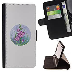 Jordan Colourful Shop - card flowers pastel drawing For Apple Iphone 6 PLUS 5.5 - Leather Case Absorci???¡¯???€????€????????&ce