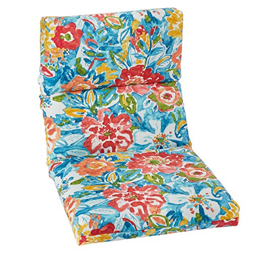 - BrylaneHome Universal Chair Cushion - Poppy Blue