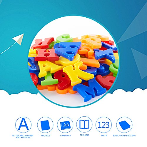 Magnetic Letters & Numbers 82 pieces, KIDAMI Alphabet magnets, Educational letter Toys for Kids in Fun, Refrigerator Magnets for toddlers.
