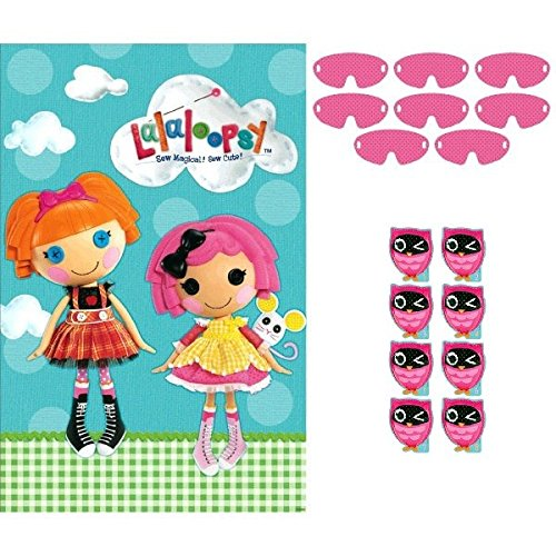 Adorable Lalaloopsy Birthday Party Game Activity (4 Pack), Blue/Pink, 25