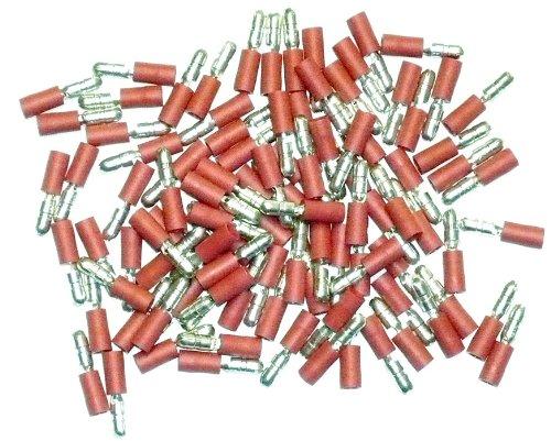 Cosses é lectriques mâ les rondes ROUGES de 4 - Sachet de 100 OC-PRO