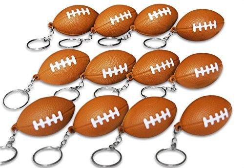 (Novel Merk 12 Pack Football Keychains for Kids Party Favors & School Carnival)