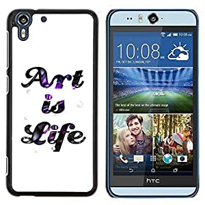 Queen Pattern - FOR HTC Desire EYE M910x - art life quote creativity inspiration sign - Cubierta del caso de impacto con el patr???¡¯???€????€???&Acir
