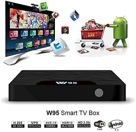 SeeKool Android 7.1 Smart TV Box Modelo T Android TV Box con 2GB RAM 16GB ROM, 4K UHD, Amlogic S905W Quad Core 64bit CPU, HDMI & AV Salida, 2 Puerto USB, WiFi