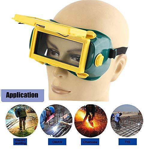 MASO Pro - Gafas de soldar para oscurecimiento automático, protección solar para casco, gafas y ojos, energía solar + oscurecimiento automático + bandas ...