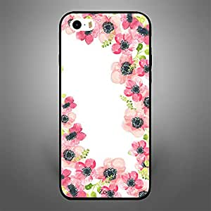 iPhone 5S Pink Flowers Pattern