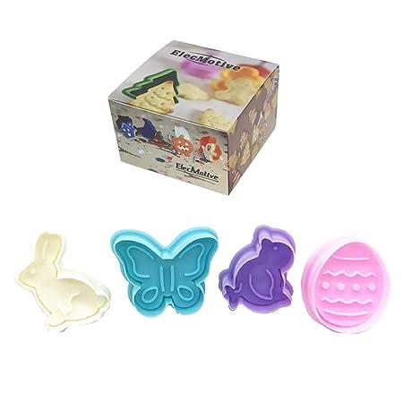 ElecMotive 4 motivos de pascua para galletas en plástico En una ...