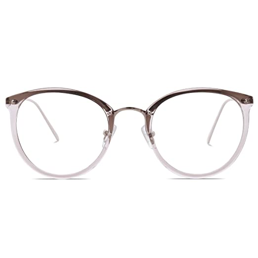 Amazon.com: Amomoma Fashion Round Eyewear Frame Eyeglasses Optical ...