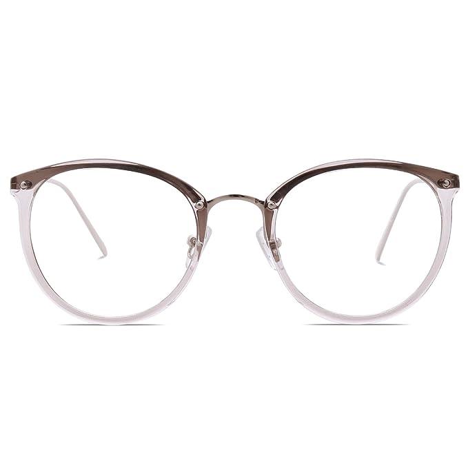 Amazon.com: Amomoma Fashion Round Eyewear Frame Eyeglasses Optical ...