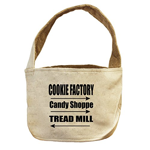 Cookie Factory Candy Shoppe Tread Mill Canvas and Burlap Storage Basket