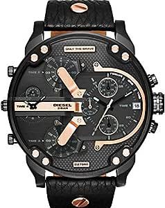 Diesel Men's DZ7350 Mr Daddy 2.0 Black Leather Watch