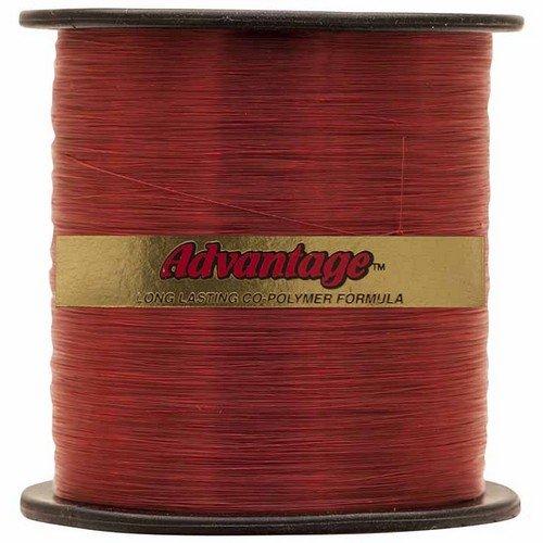 Cajun Line Red Advantage 1/4-Pound Spool with Test Fishing Line (8-Pound)