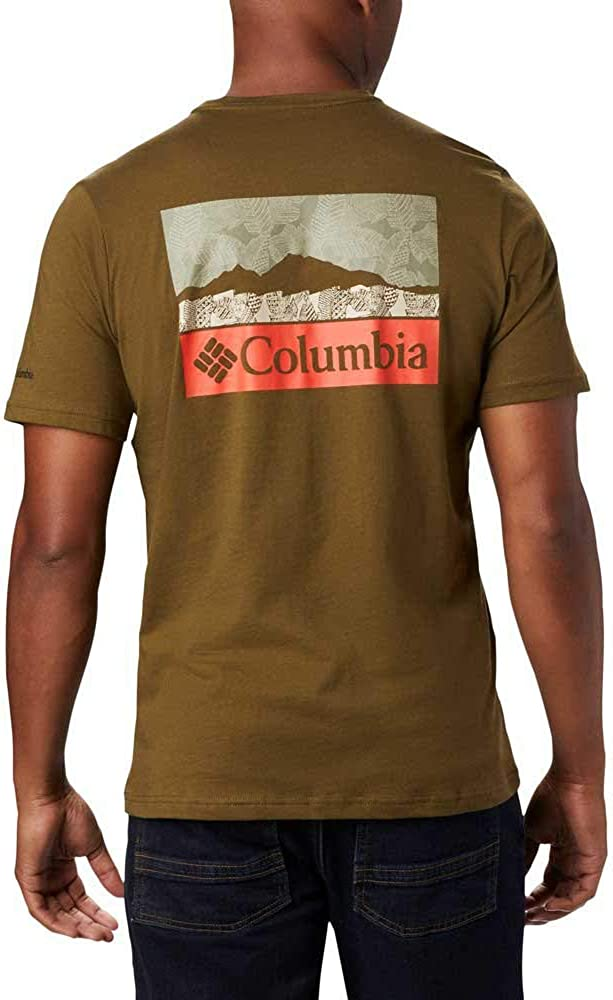 Columbia Rapid Ridge Back Graphic T-Shirt Herren City Grey CSC leafscape 2020 Kurzarmshirt