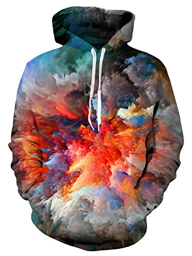 UNIFACO Unisex 3D Print Pullover Hoodies Breathable Patterned Sweatshirts Hooded for ()