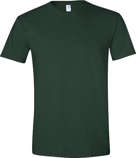 596dc3e6a06 Gildan Mens Short Sleeve Soft-Style T-Shirt (S) (Forest Green ...