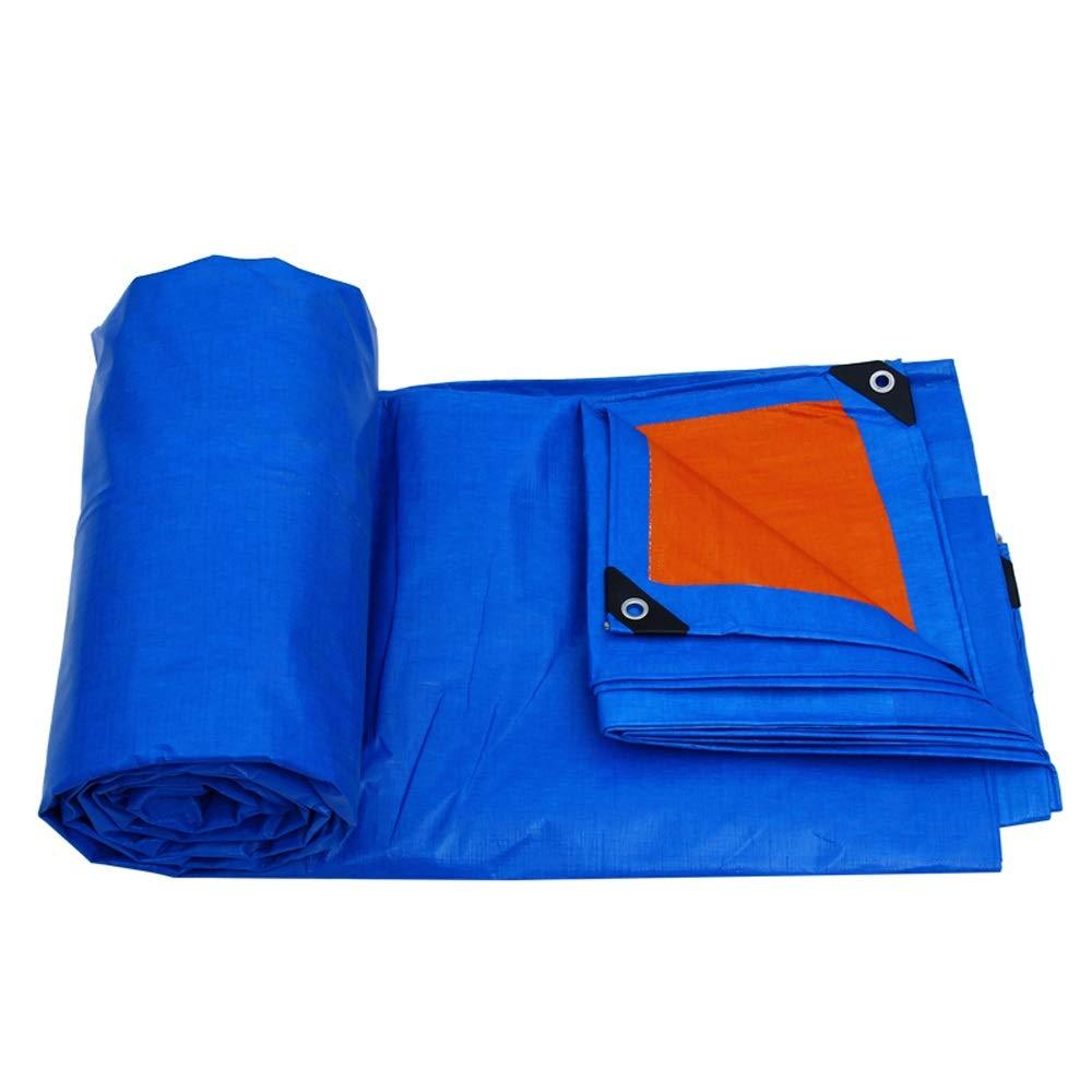 3mX2m XX Tarpaulin XiaoXIAO Toile en polyéthylène bÂche en Plastique en Plein air Parasol bÂche Toile de Pluie Camion Couverture Toile canopée Bleu, 7 Tailles BÂche (Taille   3mX2m)