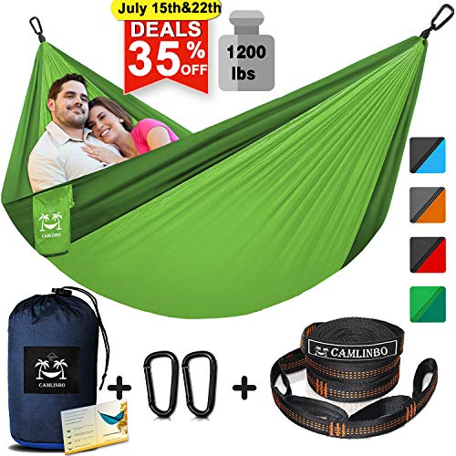 Camping Hammock for 2 Person Double Hammocks with Tree Straps & Steel Carabiners 118