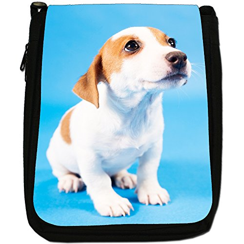 Dog Medium Bag Jack Size Shoulder Black Canvas Terrier Russell xqqwZ4tEP